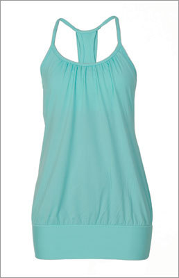 No Limit Tank $64 @ Lululemon This tank does double duty with sport-bra support underneath a flowly, flattering tank. We can easily see wearing this tank during an exercise class and then out to run errands on a weekend.