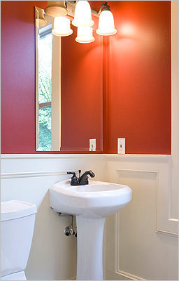 3. MAKE OVER YOUR BATHROOMS Cost: $600 to $10,000 and up Spiffing up a bathroom is one of the most pleasing changes you can make to your home without breaking the bank. For as little as $600, you can do it yourself by changing the vanity, painting the walls, cleaning the grout or re-grouting, replacing sink faucets and fixtures such as towel bars and lighting, and buying a new shower curtain and towels. To make the place look bigger without spending too much, Krieger recommends installing a large mirror, perhaps framed with tile, spanning the length of the vanity and reaching the ceiling.