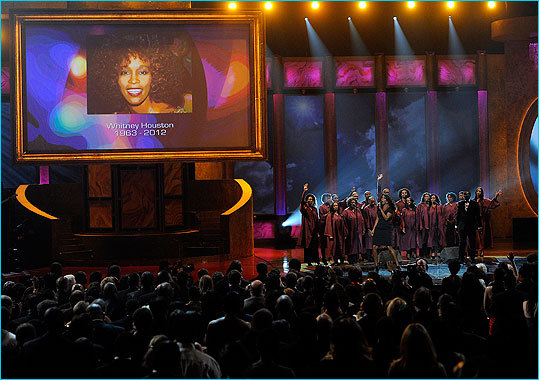 Music fans and industry peers across the globe are remembering the late superstar Whitney Houston , who died Feb. 11. Click through to see how the world is remembering the iconic singer. Gospel great Yolanda Adams paid tribute to the singer at the 43d annual Image Awards on Feb. 17.