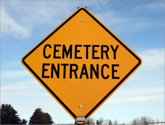 You can't use a cemetery as a shortcut because cemeteries are private property. True or false?