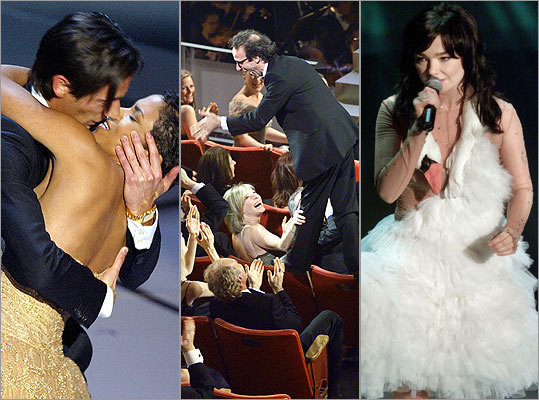 The Academy Awards, the movie industry's biggest night, has served up some unforgettable, unscripted moments in decades-long history. Take a look at some of the most memorable incidents of the storied awards show. From left: Adrien Brody and Halle Berry in 2003, Robert Benigni in 1999, Bjork in 2001