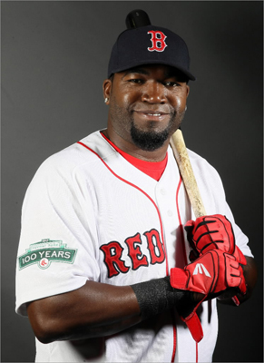 Designated hitter David Ortiz is the longest tenured player on the team in 2012.