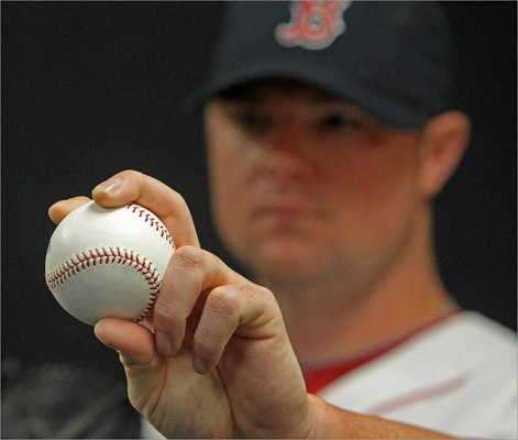 Jon Lester showed his pitching grip.