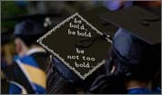 Scenes from Massachusetts college commencements