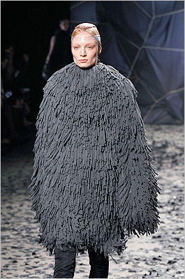 The latest in floor mop technology. Gareth Pugh, Feb. 29.