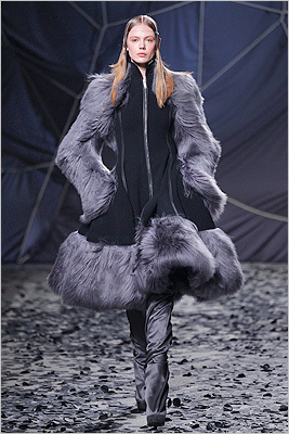 How to your Purple People Eater, because that was so very '80s. Gareth Pugh, Feb. 29.