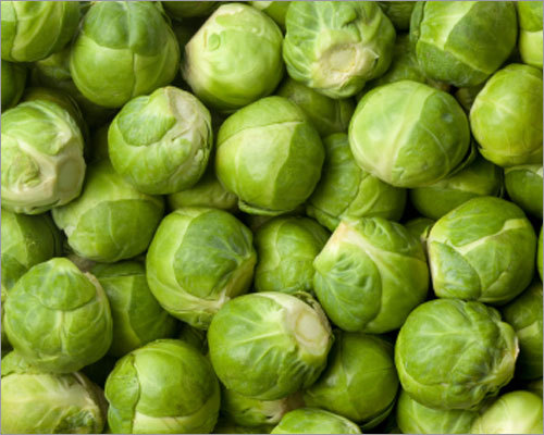 Brussels sprouts As a member of the cruciferous family, Brussels sprouts look like tiny, adorable cabbages. However, don't underestimate these mini cabbages. Research suggests that a plant-based diet that contains cruciferous vegetables, such as Brussels sprouts and cauliflower, may help reduce the risk of prostate cancer. Tip: Versatile Brussels sprouts can be baked, boiled, microwaved, or steamed. For your St. Patty's Day corned beef dinner, substitute these yummy brussels sprouts with browned garlic for traditional cabbage.