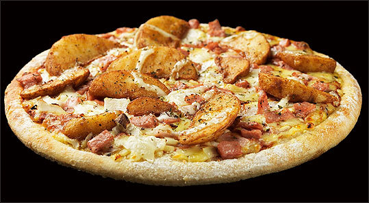 Domino's Pizza New Zealand - Mr. Wedge Pile on the toppings! The Mr. Wedge pizza has BBQ Sauce, potato wedges, champagne ham, red onion, mozzarella, oregano, fresh garlic, and a swirl of mayonnaise. How do you feel about Mr. Wedge?