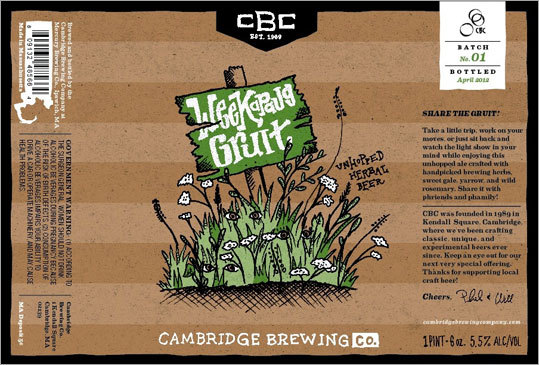 Weekapaug Gruit Made by: Cambridge Brewing Co. Location: Cambridge Alcohol by volume: 5.5 percent The beer&#146;s name -- Weekapaug Gruit &#150; is based on a song &#147;Weekapaug Groove&#147; by the band Phish, who had a relationship with the Cambridge Brewing Co. years ago and would drink their beer backstage at shows. This is a &#147;contemporary interpretation of ancient brews,&#148; Meyers said, since gruit was what beer was throughout the Middle Ages. Weekapaug Gruit bottle will be released April 10, though it will be available on draft March 21.