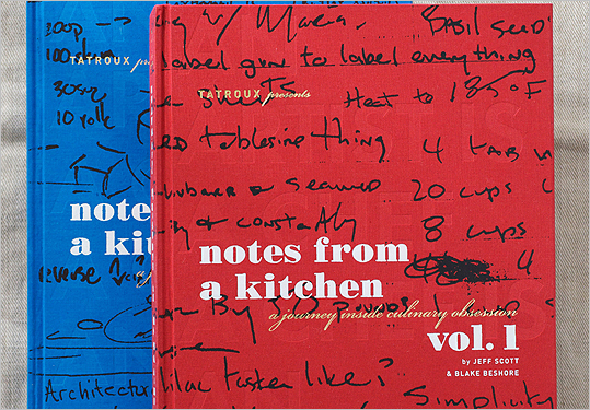 'Notes from a Kitchen' book covers.