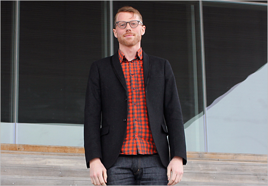 John Andress, public program coordinator With a public-facing role at the museum, Andress kept things informally fashionable on an otherwise casual day. This summer, he will be bringing back Talking Taste to the museum, a reoccurring program that brings local chefs and eager taste-tasters to the waterfront.