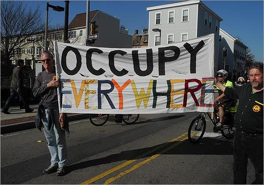 The parade was boosted in size this year by the presence of multiple sects of Occupy Wall Street.