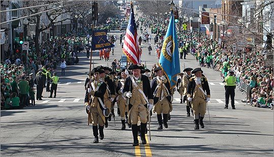 The Lexington Minutemen marched up West Broadway.