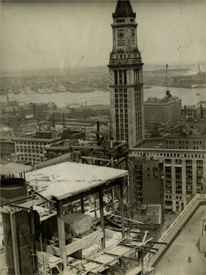 Custom House Until the 1960s, the Custom House was the tallest building in Boston. At the time of this photo, the downtown area was dwarfed by the Custom House, making it a landmark for shipping and commerce. Picture taken 1932