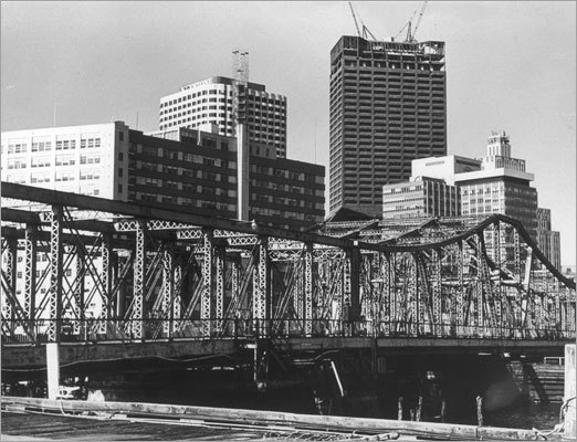 First National Bank Building Construction neared completion on the new First National Bank Building, at center right. Only One Boston Place was taller when this was being built. Picture taken 1971