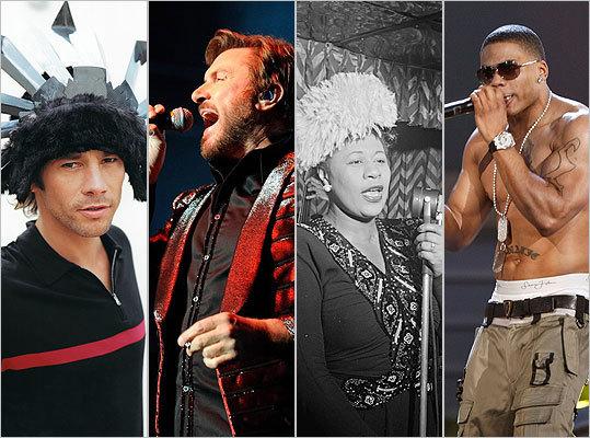 Jamiroquai, Duran Duran, Ella Fitzgerald, Nelly
