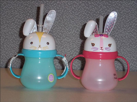Target recalls Bunny Sippy Cups due to injury hazard Date: April 26, 2012 Units: Approximately 264,000 The ear on the bunny sippy cup can poke a child in the eye area while using the cup for drinking, posing an injury hazard. There have been six incidents reported where the plastic ear poked children during routine use of the product. Cuts and bruises were reported in three of these reports.