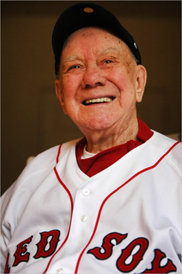 Fenway Park turns 100 years old on April 20. Looking back on the history of the park you might find Lou Lucier - at 94 the oldest living Red Sox player. On May 30, 1943, Lucier, who rose out of the textile mills of the Blackstone Valley, was given the ball for his first home start at Fenway Park. ''My heart was pounding like hell I'll tell you that,'' said Lucier. ''You get on that mound there and you turn around and look at that Green Monster, and it felt like it was next to second base. It was so close. It looks the same today.''