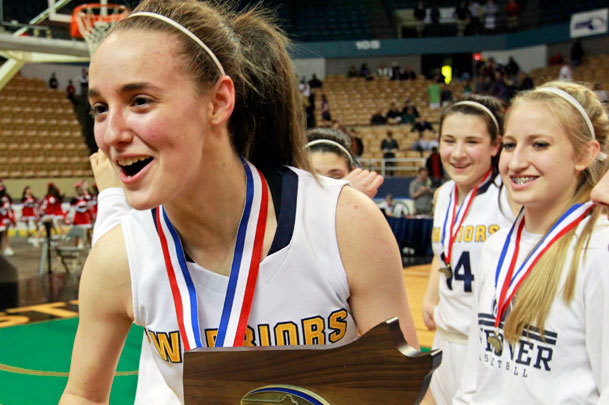 Boudreau celebrated winning the Division 1 state championship at the DCU Center in Worcester.