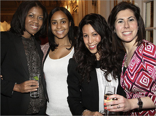 April 3 in Boston From left: Maria Fernandes of Jamaica Plain, Stephanie Correia of Holbrook, Robyn Barros of Brighton, and Heather Cloran of Braintree.