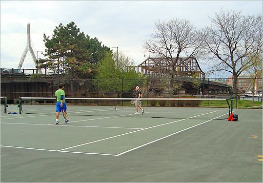 North End tennis courts