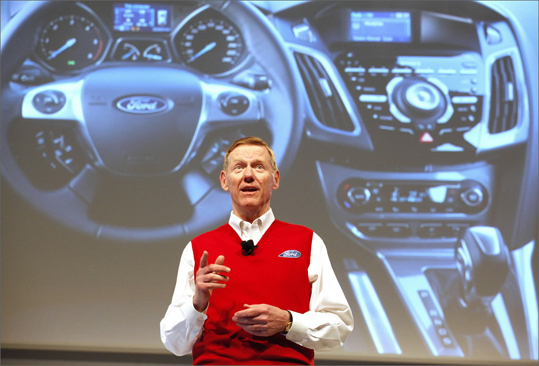 9. Alan Mulally Company: Ford Motor 2011 compensation: $29,497,572 2010 compensation: $26,520,515 Change: 11.22 percent