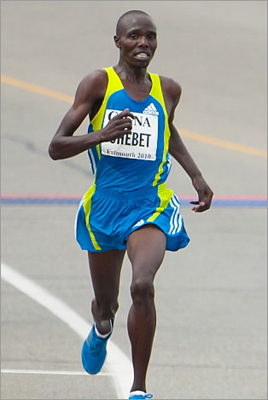 "Nicknamed ""Mr. Amsterdam"" by his Dutch fans, 26-year-old Kenyan Wilson Chebet is known for his marathon wins and pacing duties in in the Netherlands, including his personal best of 2:05:27 in the 2011 Rotterdam Marathon. ""I started running in 2004 for the same reason many other East Africans do,' he said. 'It is because with years of hard work and patience, running offers a chance to work our way out of poverty and earn enough money to provide for our families."""