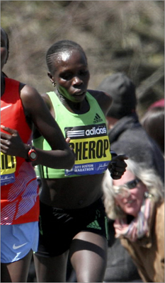 One of the top marathoners in the world the past two years, Sharon Cherop, 28, reinforced her stature in 2011 with a third place finish in Boston and a bronze medal at the World Championships. Cherop's third place 2:22:42 at Boston - her career best - eclipsed her 2010 Toronto Marathon winning time by one second.