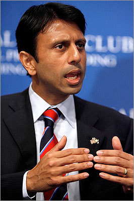 Bobby Jindal The Louisiana governor is the nation's first Indian-American governor. He graduated with honors from Brown University at age 20, went on to become a Rhodes Scholar, and started his career with McKinsey & Co. He became the youngest secretary of Louisiana's Department of Health and Hospitals. He lost a 2003 campaign for governor, went on to serve in the US House, and, in 2007, ran again for governor. He was lampooned after a poor performance delivering the GOP's response to Obama's first address to a Joint Session of Congress, but has since seen his stature recover.