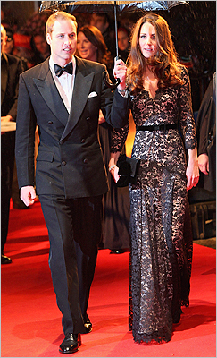 At the UK premiere of War Horse at Odeon Leicester Square on January 8 in London. What's next for the royal couple? The National Post recently noted that both 'Queen Elizabeth II and Princess Diana gave birth within a year of marriage.' Nothing has been confirmed, but royal watchers around the world have asked: When will the young couple have their first child? For now, we'll just have to keep guessing.