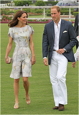 At the Santa Barbara Racquet and Polo Club for a Foundation Polo Challenge that benefits the American Friends of the Foundation of Prince William and Prince Harry on July 9, 2011 in Santa Barbara, Calif. Sporting a royal glow (Names)