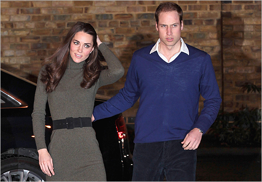 The couple arrived for a visit to the headquarters for Centrepoint, a foundation for the young homeless, on December 21, 2011 in London. The charity was closely associated to William's late mother, Princess Diana.