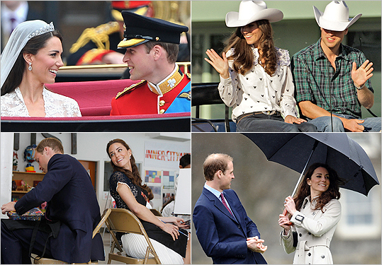 April 29, 2012 marked the one-year anniversary of Prince William and Catherine Duchess of Cambridge. To honor the royal romance that captured the attention of an international audience last spring, we took a look back at the young couple and the events following their engagement announcement in Nov. 2010.