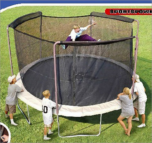 Walmart recalls trampolines due to fall hazard Date: May 9, 2012 Units: About 92,000 The netting surrounding the trampoline could break, allowing children to fall through and injure themselves. There have been 17 reports of the net breaking, causing 11 injuries, including broken bones, back, and neck injuries.