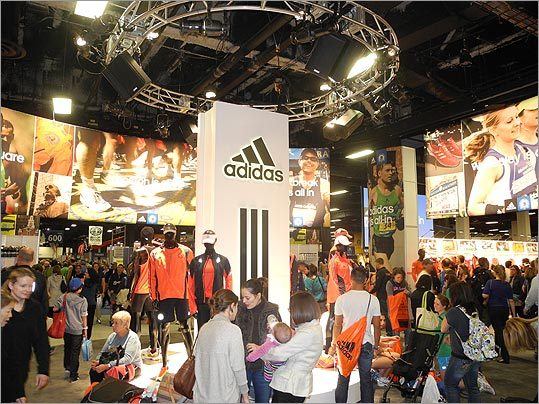 A large Adidas display greeted visitors when they walked into the expo.