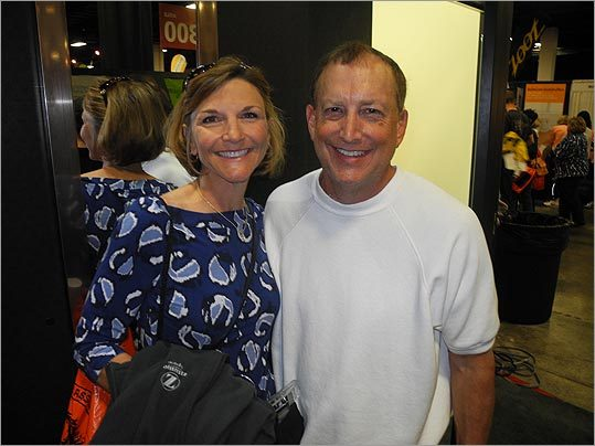 Leonard Raphael (left), with his wife Rhonda, from College Station, Texas, will be running his fifth Boston Marathon. 'I love Boston. It's the funnest marathon I think he does, just because the whole city comes out to support him on that day,' Rhonda said.