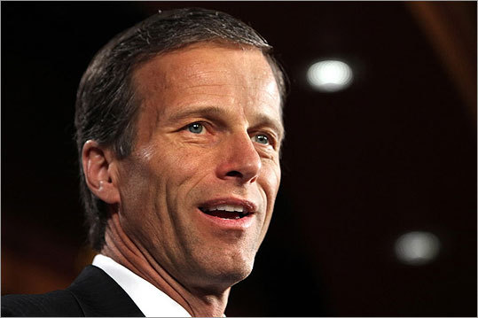 John Thune The South Dakota senator was reportedly among those considered for the vice presidency in 2008. He could offer Romney geographical balance, and was an active campaigner for the candidate in Iowa - a potential 2012 swing state. Thune identifies himself as an evangelical Christian and also buttresses Romney's example of making a second run for the presidency: Thune ran for the US Senate in 2002 and lost by just 524 votes. Two years later, he ran again and knocked off then-Senate Minority Leader Tom Daschle.