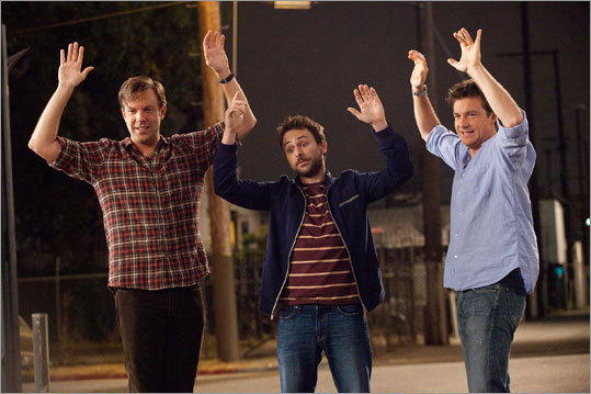 'Horrible Bosses' (2010) Starring Jason Bateman, Charlie Day, and Jason Sudeikis Rather than quit their jobs during a recession, three friends decide to hire a murder consultant to get rid of their management problems.