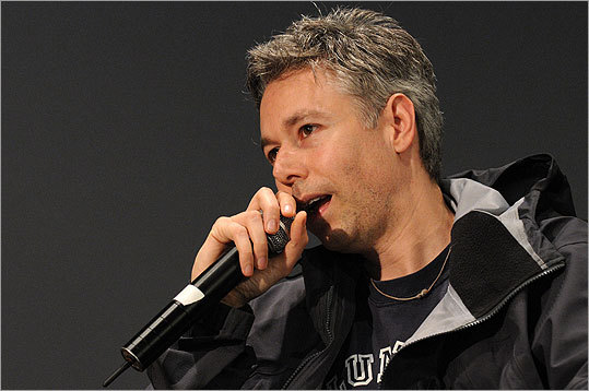 FILE: Filmmaker and recording artist Adam Yauch speaks onstage at the Apple Soho store on May 2, 2008 in New York City. Rapper Adam Yauch, AKA MCA, of the Beastie Boys has died May 4, 2012 after battling cancer. He was 47.