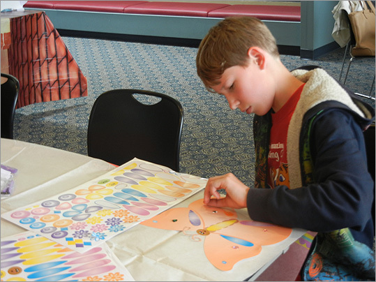 Twelve year-old Nikki Finholt created his own butterfly.