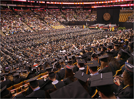 Northeastern University held its commencement May 4 at TD Garden, which was packed with students, family, and friends.