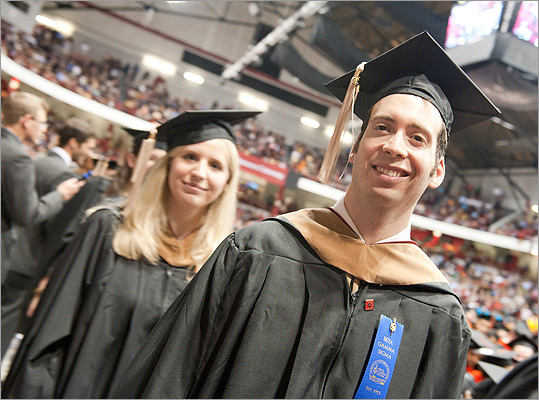 Northeastern University held their graduate student commencement at Matthews Arena following their undergraduate commencement on May 4.