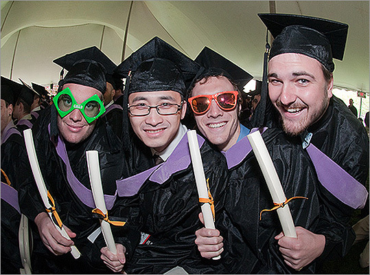 Wentworth graduates got silly at their May 6 on-campus commencement.