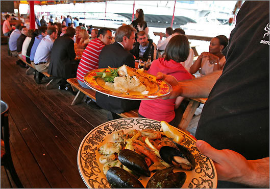Test the waters--or at least, the fish in them. Get your fish fix just a short walk away from the Pavilion at The Barking Crab or James Hook Lobster Co. These two long-standing Boston institutions offer up your favorite fish dishes--from lobsters and lobster rolls, to crab cakes and clam chowder.