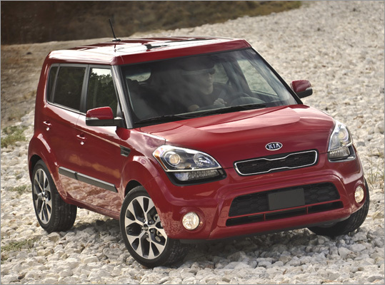 2012 Kia Soul The 2012 Kia Soul is another of those cars that has so many standard features that we can recommend the base model. Boasting the most cargo room among our seven urban warriors at 23.7 cubic feet, it also offers the largest passenger compartment. Price: $15,700 Fuel Economy: 27 mpg city and 35 mpg highway