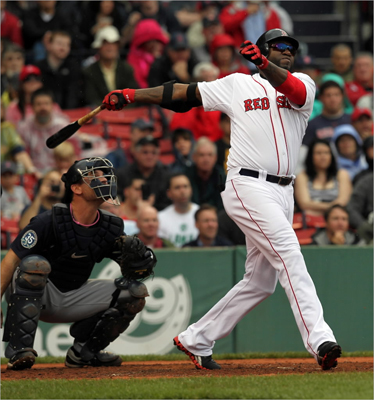 David Ortiz hit a solo home run in the third inning.