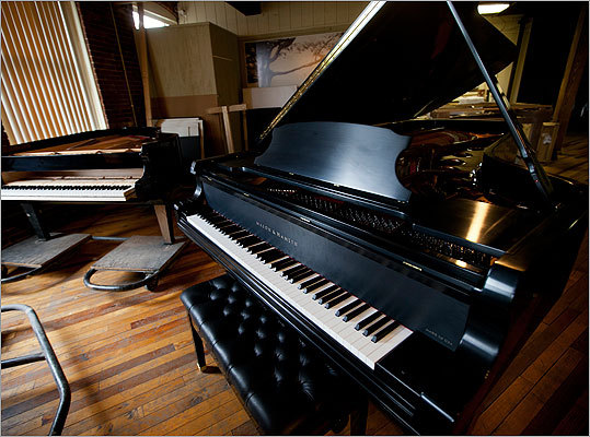 'In the piano world, the concert grand is a massive structure,' Clark said. 'In general, Mason & Hamlin pianos are considerably heavier than others.' Their closest competitor's 9-foot piano weighing 1,050 pounds is lighter than the Haverhill company's 1,100 pound 7-foot piano.