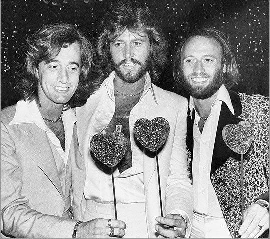 Robin Gibb, Barry Gibb and Maurice Gibb,