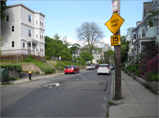 Answer: Yes Drivers should always pay close attention to the posted signs to ensure that their vehicle is parked legally. Parking on a speed bump in the City of Boston is not illegal, unless otherwise posted.