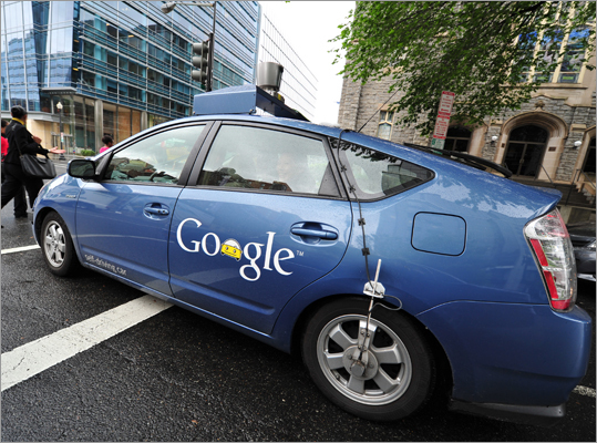 The Google self-driving car maneuvered through the streets of in Washington, D.C., on May 14. The system on a modified Toyota Prius combines information gathered from Google Street View with artificial intelligence software. Self-driving cars set for test drive in Nevada